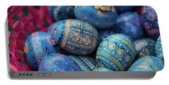 Easter Eggs Portable Battery Charger by Eva Lechner