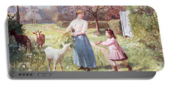 Easter Eggs In The Country Portable Battery Charger by Victor Gabriel Gilbert