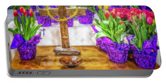 Portable Battery Charger featuring the photograph Easter Flowers by Nick Zelinsky