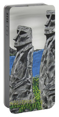 Easter Island Stone Men Portable Battery Charger
