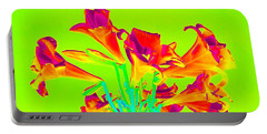 Vibrant Lilies Portable Battery Charger