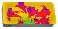 Easter Lilies As Pop Art Portable Battery Charger