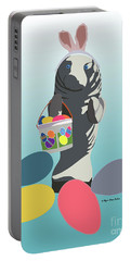 Portable Battery Charger featuring the digital art Easter Manatee by Megan Dirsa-DuBois