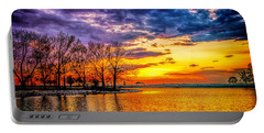Portable Battery Charger featuring the photograph Easter Sunset At Riverview Beach Park by Nick Zelinsky