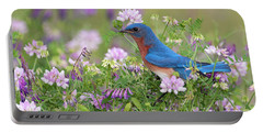 Eastern Bluebird - D010120 Portable Battery Charger by Daniel Dempster