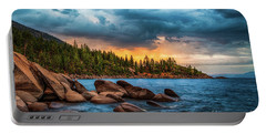 Eastern Glow At Sunset Portable Battery Charger