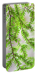 Portable Battery Charger featuring the photograph Eastern Hemlock Tree Abstract by Christina Rollo