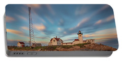 Eastern Point Lighthouse At Sunset Portable Battery Charger