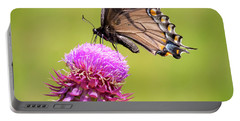 Portable Battery Charger featuring the photograph Eastern Tiger Swallowtail Dark Form  by Ricky L Jones