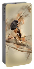 Bird Art - Eastern Towhee - Male Portable Battery Charger by Ron Grafe