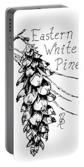 Eastern White Pine Cone On A Branch Portable Battery Charger