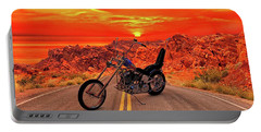 Portable Battery Charger featuring the photograph Easy Rider Chopper by Louis Ferreira