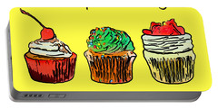 Portable Battery Charger featuring the photograph Eat A Cupcake Today . And Smile by Wingsdomain Art and Photography