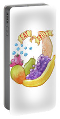 Eat More Fruit Portable Battery Charger