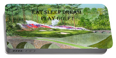 Eat Sleep Dream Play Golf - Augusta National 12th Hole Portable Battery Charger by Bill Holkham