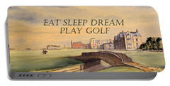 Eat Sleep Dream Play Golf Portable Battery Charger