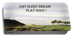 Eat Sleep Dream Play Golf - Torrey Pines South Golf Course Portable Battery Charger by Bill Holkham