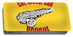 Eat Sleep Sax Repeat Portable Battery Charger