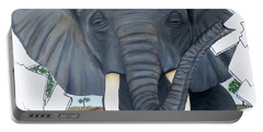 Eavesdropping Elephant Portable Battery Charger