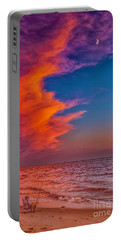 Portable Battery Charger featuring the photograph Evening Fishing On The Beach by Nick Zelinsky