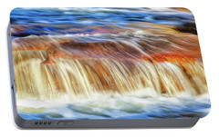 Portable Battery Charger featuring the photograph Ebb And Flow, Noble Falls by Dave Catley