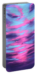 Portable Battery Charger featuring the painting Eccentric Sky by Anastasiya Malakhova