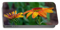 Echinacea Side View Portable Battery Charger