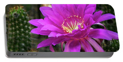 Portable Battery Charger featuring the photograph Echinopsis In Hot Pink  by Saija Lehtonen