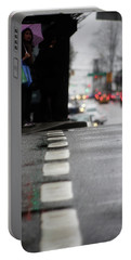 Portable Battery Charger featuring the photograph Echoes In The Rain Drops  by Empty Wall