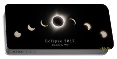 Portable Battery Charger featuring the photograph Solar Eclipse Collage 1 by Rikk Flohr