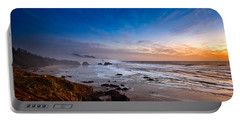 Ecola State Park At Sunset Portable Battery Charger by Ian Good