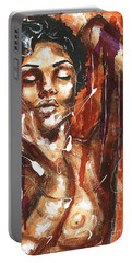 Portable Battery Charger featuring the painting Ecstacy by Alga Washington
