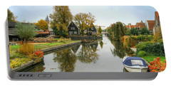 Edam Waterway In Autumn Portable Battery Charger