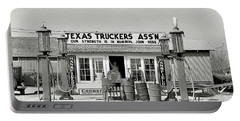 Edcouch Texas Gas Station 1939 Portable Battery Charger by Daniel Hagerman