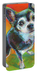 Portable Battery Charger featuring the painting Eddie by Robert Phelps