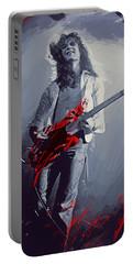 Eddie Van Halen Portable Battery Charger by Afterdarkness
