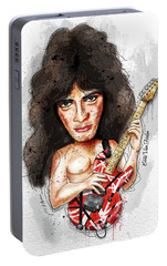Eddie Van Halen Portable Battery Charger by Gary Bodnar