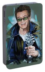 Eddie Van Halen Portable Battery Charger by Melanie D