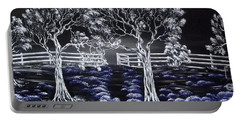 Portable Battery Charger featuring the painting Eden Gate. by Kenneth Clarke