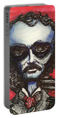 Portable Battery Charger featuring the painting Edgar Alien Poe by Similar Alien