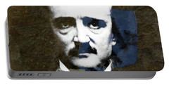 Portable Battery Charger featuring the mixed media Edgar Allan Poe  by Paul Lovering