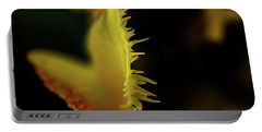 Portable Battery Charger featuring the photograph Edge Of The Tulip by Jay Stockhaus