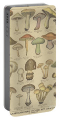 Edible And Poisonous Mushrooms Portable Battery Charger