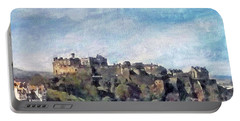 Edinburgh Castle Bright Portable Battery Charger by Richard James Digance