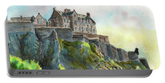 Edinburgh Castle From Princes Street Portable Battery Charger