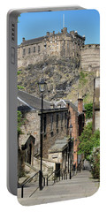 Portable Battery Charger featuring the photograph Edinburgh Castle From The Vennel by Jeremy Lavender Photography