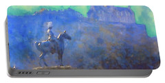 Edinburgh Castle Horse Statue Portable Battery Charger by Richard James Digance