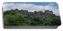 Portable Battery Charger featuring the photograph Edinburgh Castle In Scotland by Jeremy Lavender Photography