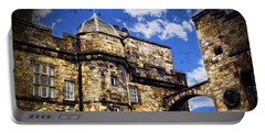 Edinburgh Castle Portable Battery Charger by Judi Saunders