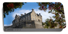Portable Battery Charger featuring the photograph Edinburgh Castle by RKAB Works